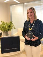 Janene Aul with MPS Premier Partner 2019 Award